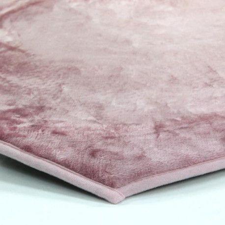 flanelle tapis 85x90 cm rose poudre