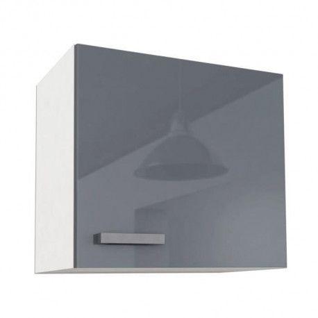 start meuble haut de cuisine l 60 cm gris brillant