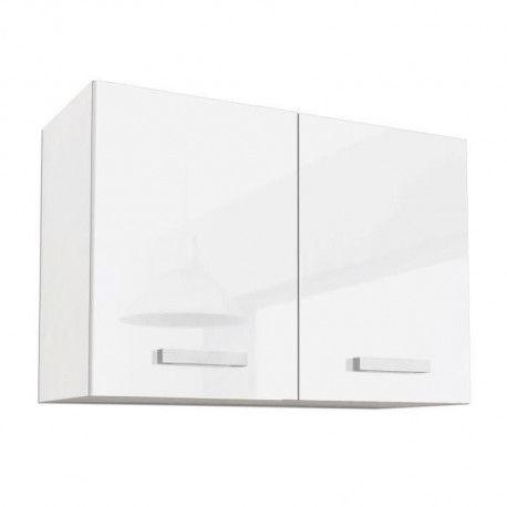 start meuble haut de cuisine l 80 cm blanc brillant