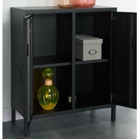 camden meuble de rangement industriel noir laque l 70 cm