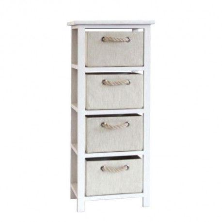 modena petit meuble de rangement de salle de bain l 34 cm blanc laque brillant et beige