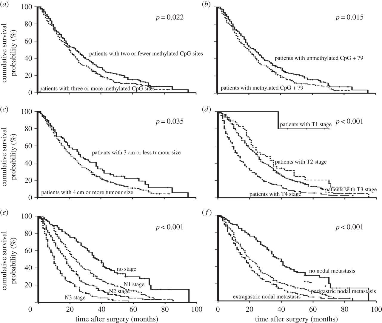 The Survival Decrease In Gastric Cancer Is Associated With