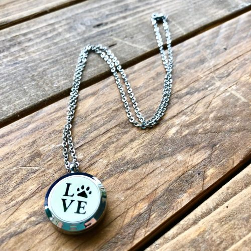 Locket Necklace Love Plain