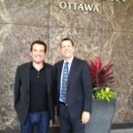 Rick Mercer with Ed