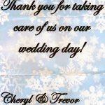 Cheryl and Trevor note