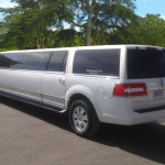 2012 All White Stretch Lincoln Navigator