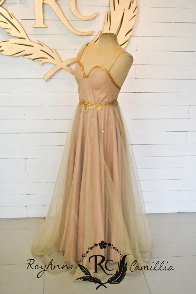 Brown gown rental \