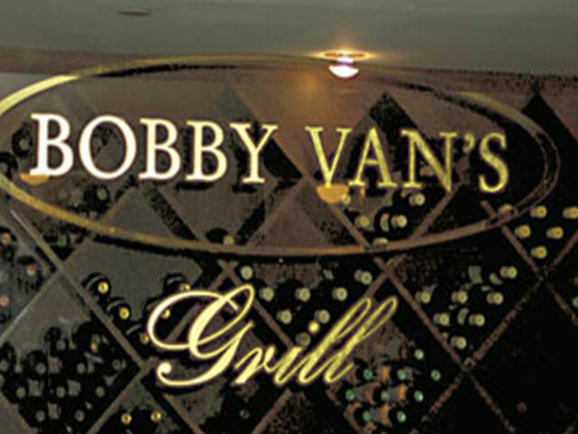 Gold Leaf Sign for Bobby Van's Grill
