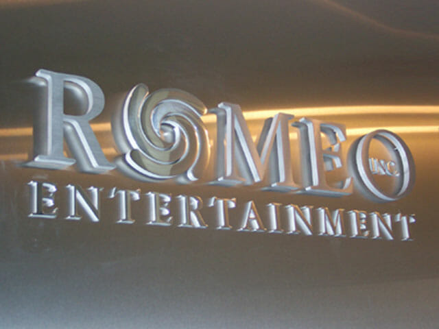 Wall Mounted Letters for Romeo Entertainment