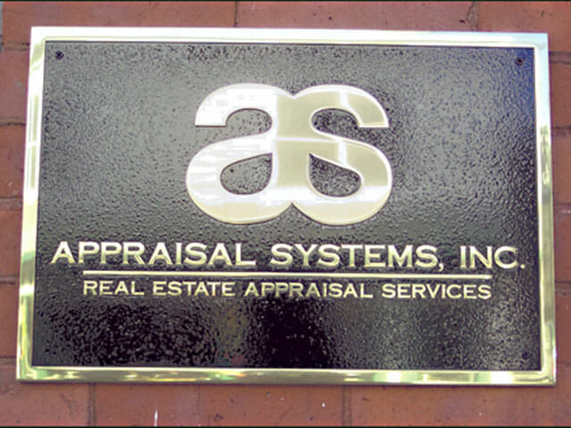 Plaque for Appraisal Systems Incorporated