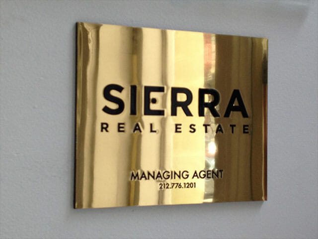 Plaque for Sierra Real Estate