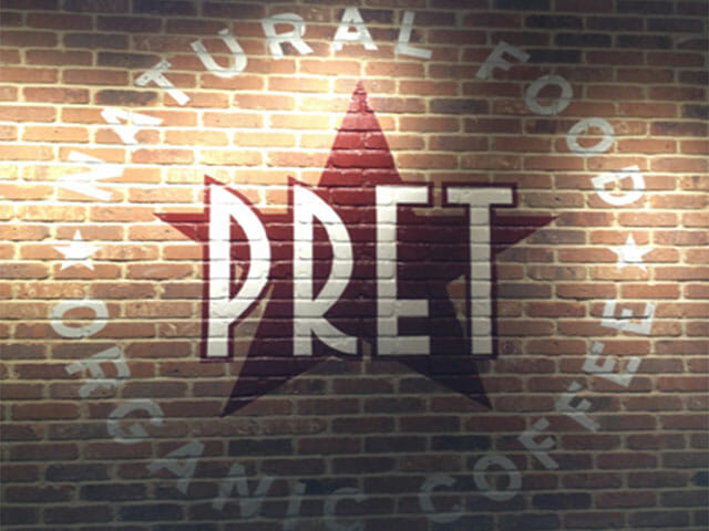 Hand Painted Wall Sign for Pret A Manger