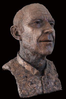 standbeeld voor professor