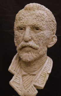 portret Vincent van Gogh keramiek