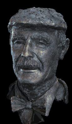 bronzen portret directeur museum