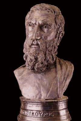 beeld van Epicurus