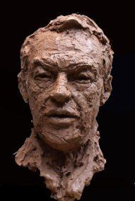 portret Hans van Mierlo brons
