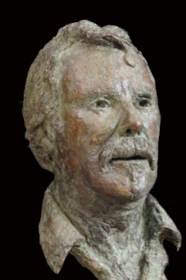 mannen portret brons