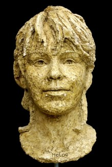 portret vrouw in keramiek