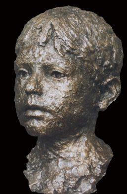 portret Jongens portret brons