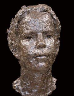 bronzen portretbeeld van meisje