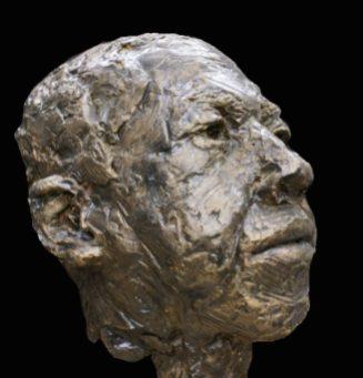 mannenhoofd in brons