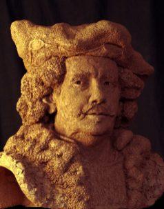buste Rembrandt naar drie zelfportretten