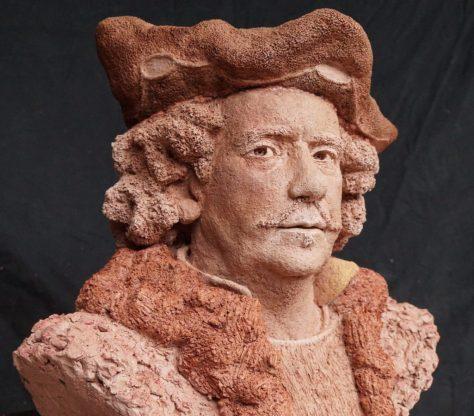 Rembrandt als een synthese van drie zelfportretten