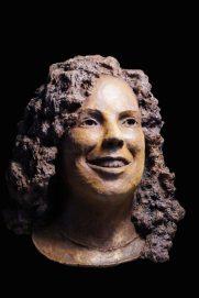 bronzen portret meisje