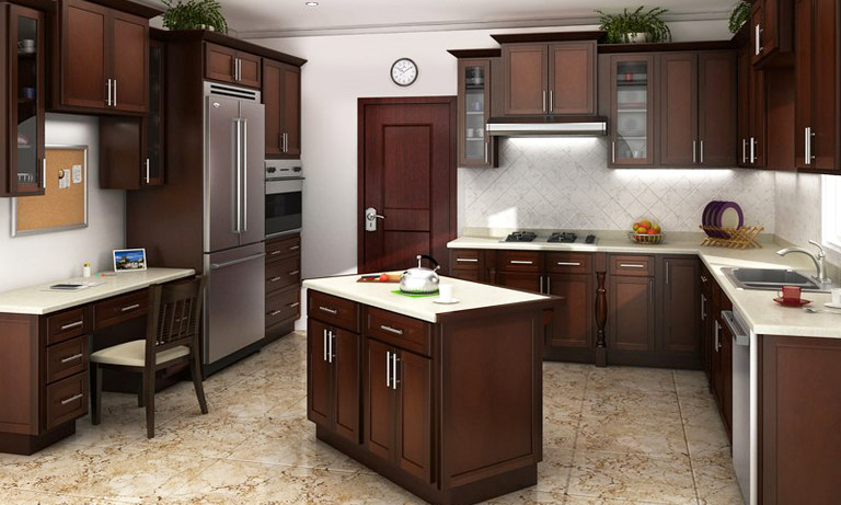 Be Brave to Apply Espresso Kitchen Cabinets with Granite | Roy ...