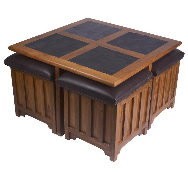 White Coffee Table Dark Wood Top