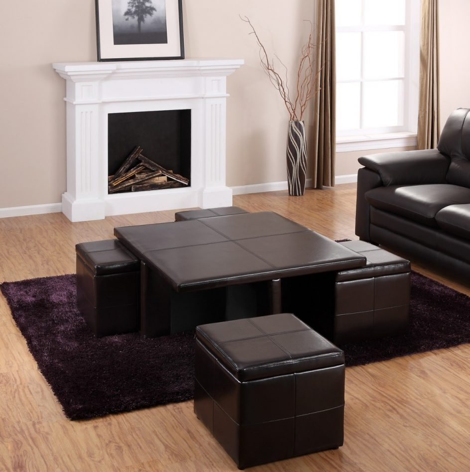 Brown Ottoman Coffee Table