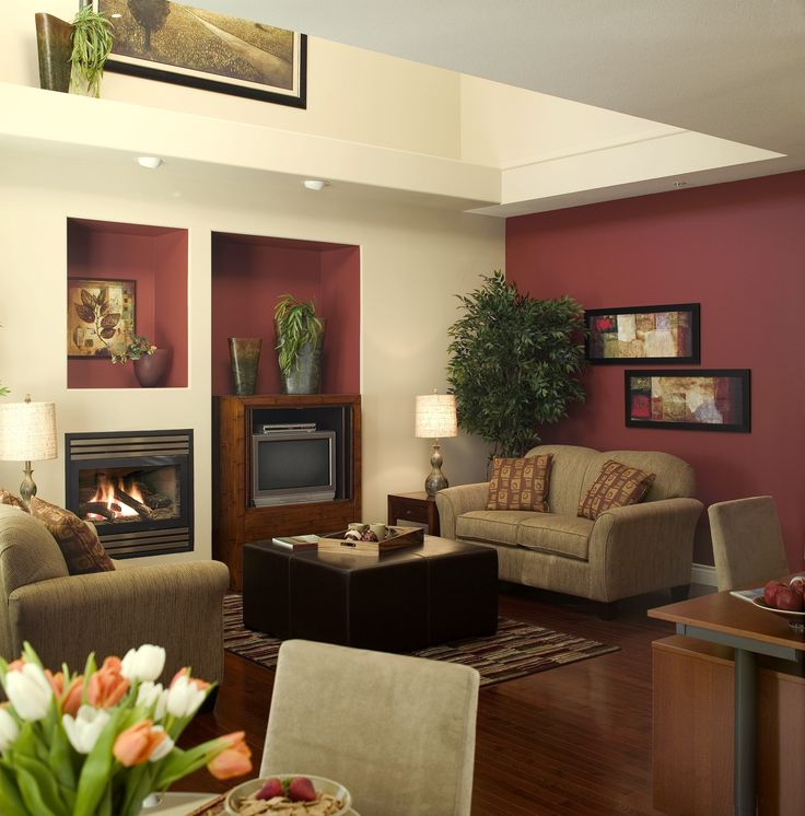Burgundy Chairs Living Accent Room