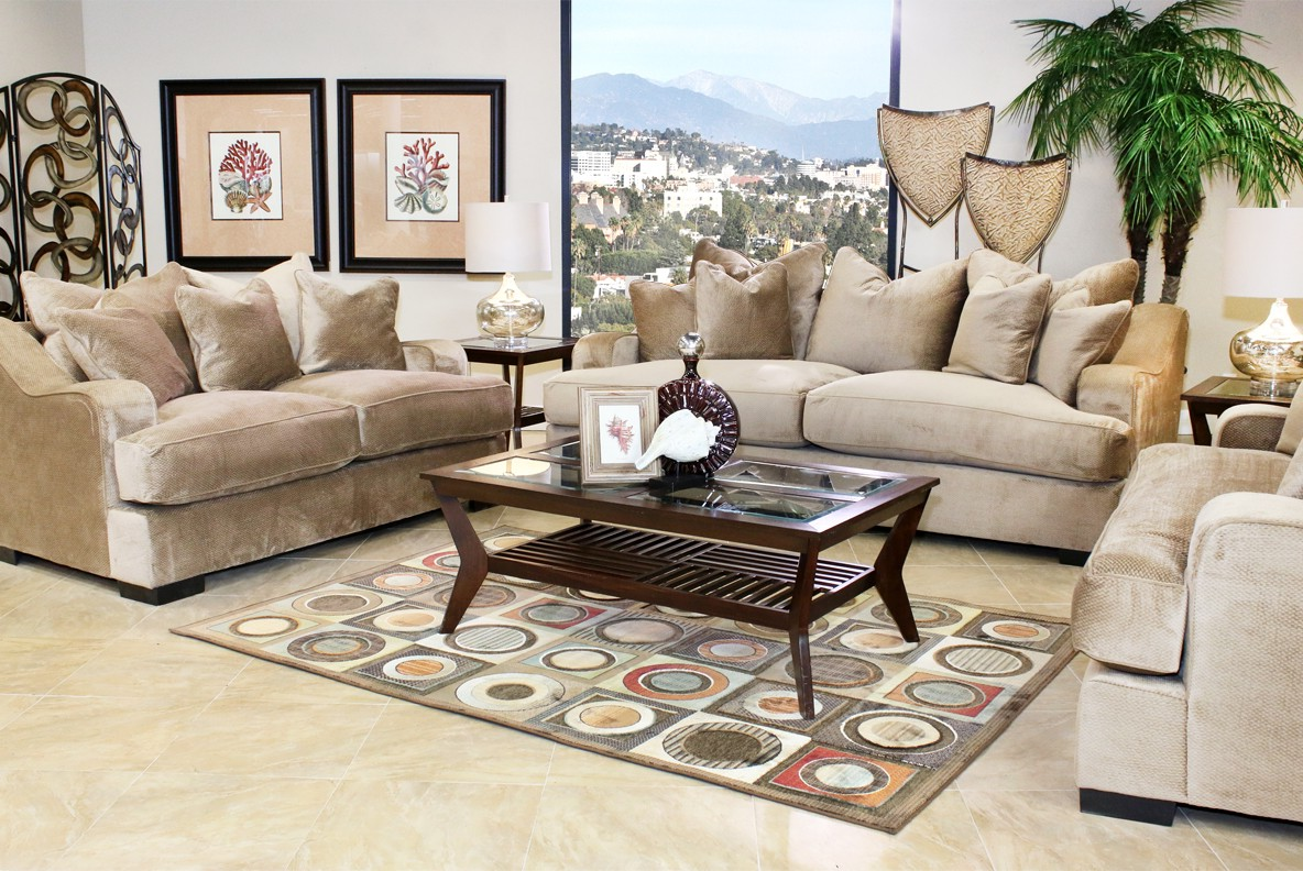 Sectional And Recliner Set