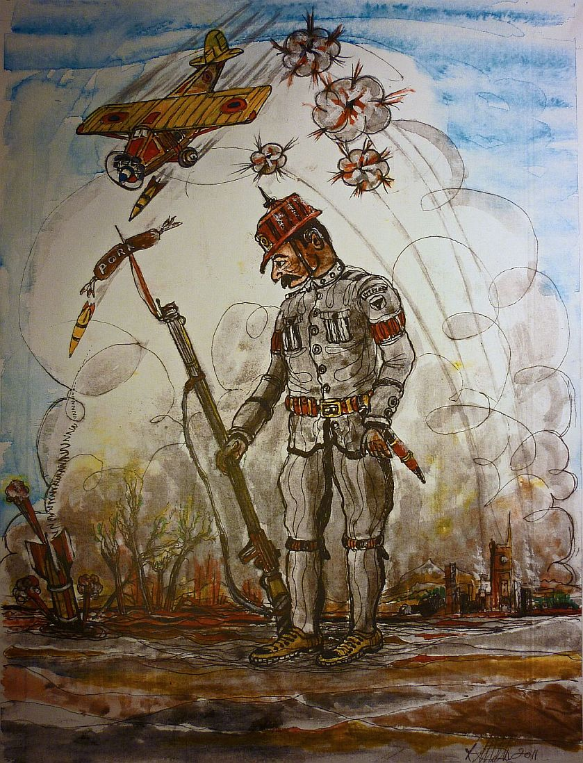 WW1 German, War painting