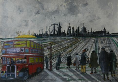 London East and West. east end, west end, routemaster,