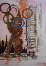 Olympic Village. Mixed media.
