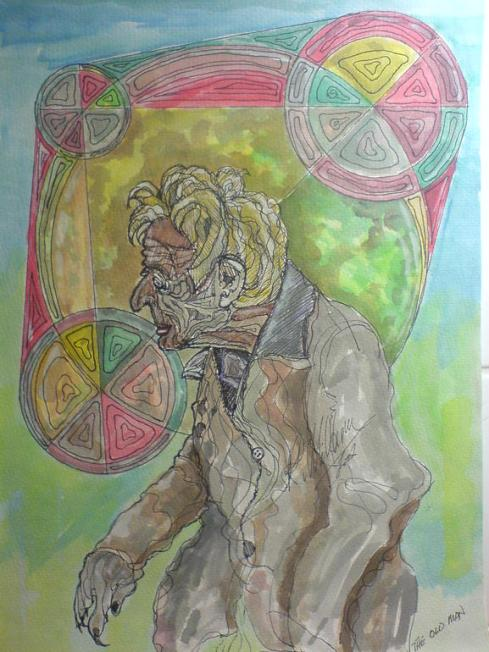 Old Man. Watercolour.