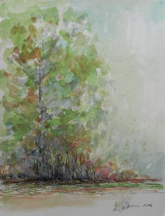 Trees. Watercolour.
