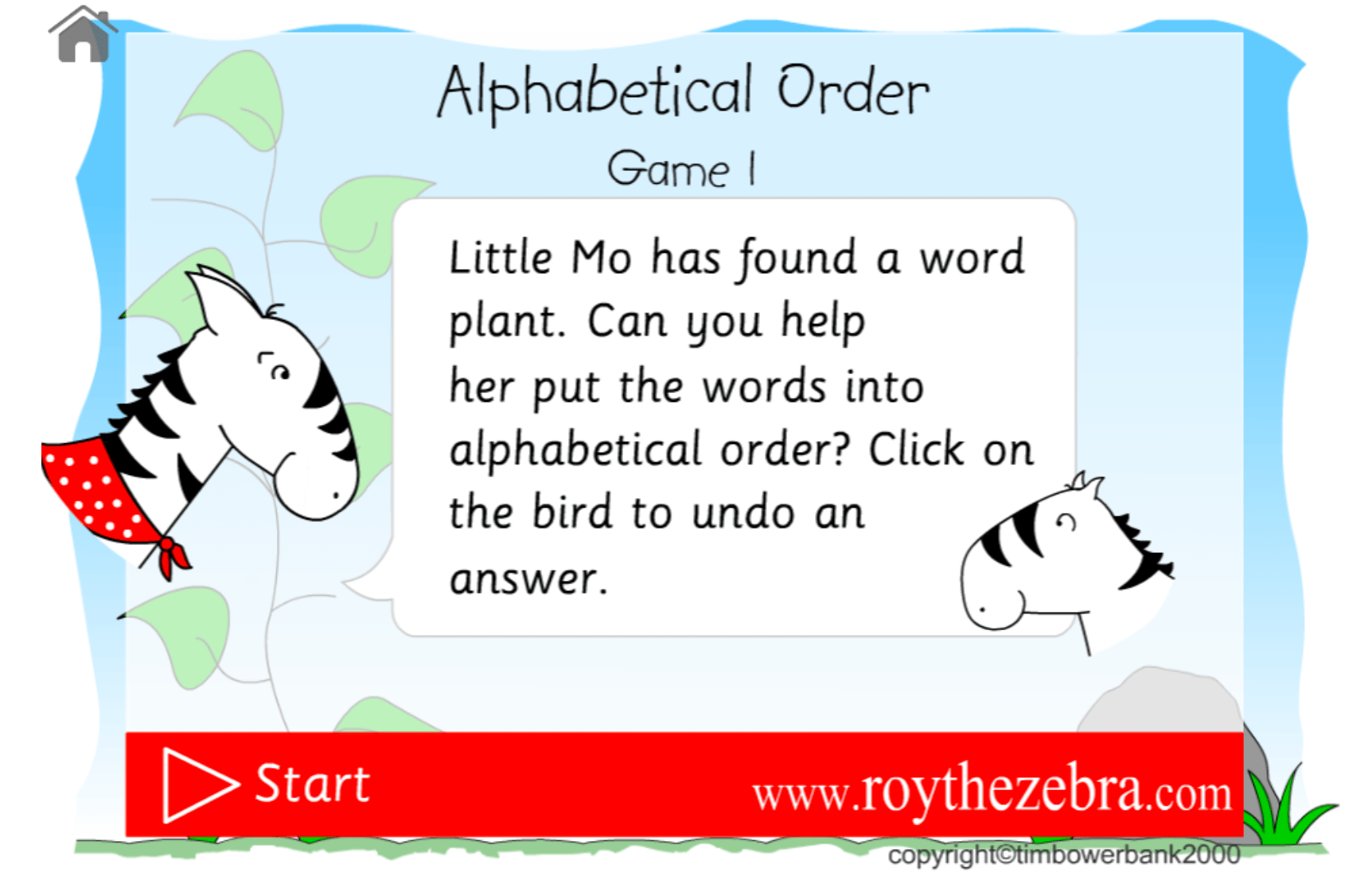 Alphabetical Order Game