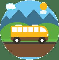simbolo ruta de autobuses IES Las Rozas 1