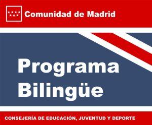 Logotipo Bilingüe comunidad de Madrid