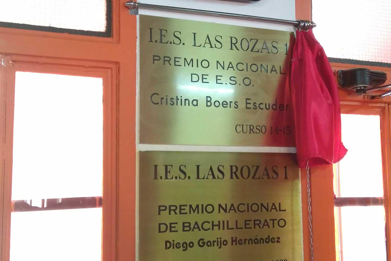 Cristina Boers. Premio Nacional de Bachillerato