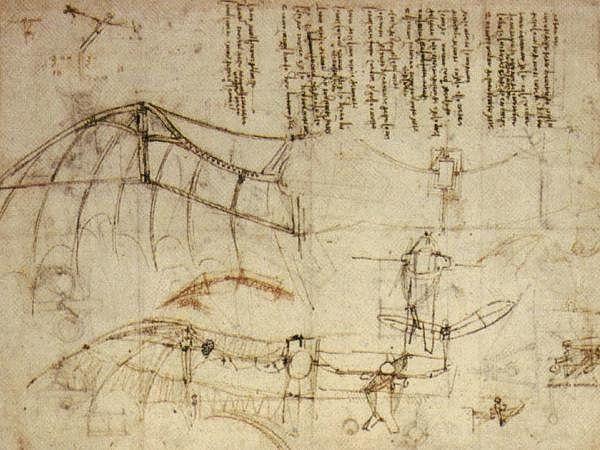 Jeden ze szkiców Leonardo da Vinci