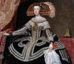 Mina Marianny mówi wszystko. 18-letnia królowa Hiszpanii musiała dzielić łoże z prawie trzykrotnie starszym od niej wujkiem, który ją w dodatku lekceważył. Obraz Diego Velázqueza z 1652 roku