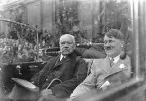 Prezydent Paul von Hindenburg i kanclerz Rzeszy Adolf Hitler w dniu święta pracy – 1.05.1933 roku