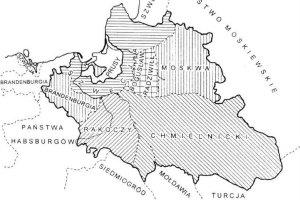 Podział Polski, ustalony w Radnot 6 grudnia 1656 roku