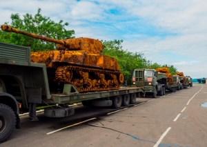 Jedno ze zdjęć wydobytych czołgów