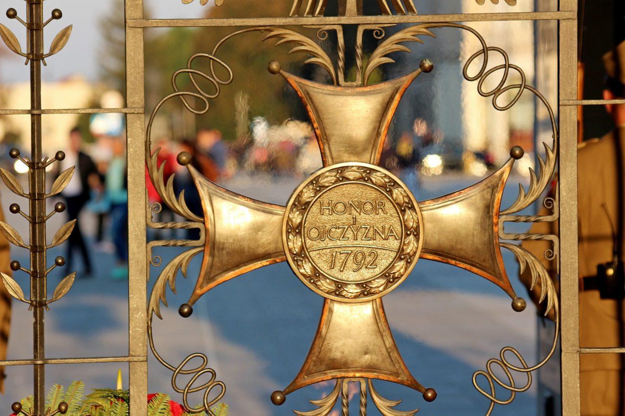 Jeden z symboli na Grobie Nieznanego Żołnierza w Warszawie