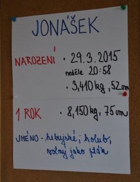 Jonášek - 1 rok